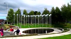 Ormagh Memorial Garden, Northern Ireland Stock Footage