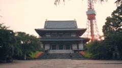 Zojoji Temple in Minato-ku, Tokyo, Japan Stock Footage