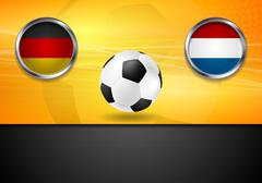 Final football. Germany and Netherlands in Brazil 2014 - stock illustration