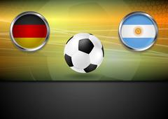 Final football. Germany and Argentina in Brazil 2014 - stock illustration
