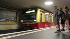 Berlin underground train S-Bahn Stock Footage