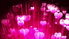 Pink Hearts Particles Stock Footage