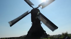 A rotating Dutch windmill - stock footage