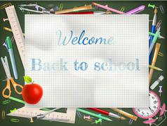 Back to school season sale. EPS 10 - stock illustration