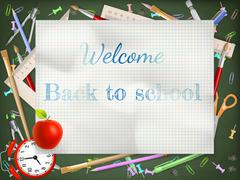 Back to school season sale. EPS 10 - stock illustration