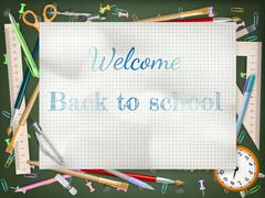 Stock Illustration of Back to school season sale. EPS 10