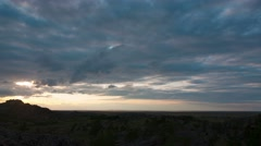 Sunset timelapse Bayan Tau mountains. Stock Footage
