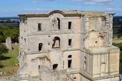 The ancient abbey of Montmajour. Stock Photos