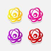 realistic design element: atom - stock illustration