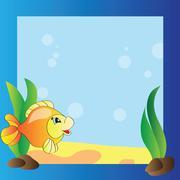 frame - marine life - stock illustration