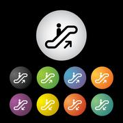 stairway symbol set - stock illustration