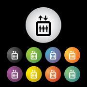 lift button set - stock illustration