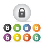 Stock Illustration of lock icon set