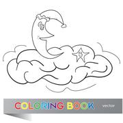 the coloring book for children - stock illustration