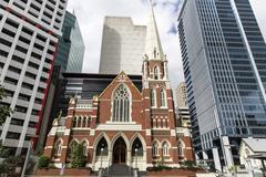 Brisbane Australia Albert Street Uniting Church - stock photo