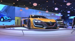 The world premiere racing coupe of Renault R.S.01 at the Moscow International Au - stock footage