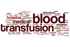 blood transfusion word cloud - stock illustration