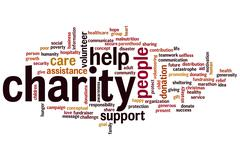 charity word cloud - stock illustration