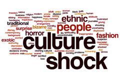 Culture shock word cloud Stock Illustration