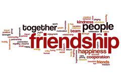 Stock Illustration of friendship word cloud