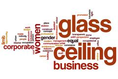 Glass ceiling word cloud Stock Illustration