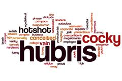 Hubris word cloud Stock Illustration