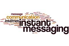 instant messaging word cloud - stock illustration