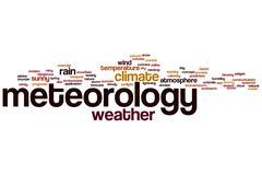 meteorology word cloud - stock illustration