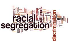 Racial segregation word cloud Stock Illustration