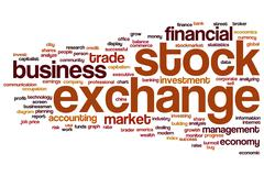 Stock Illustration of stock exchange word cloud