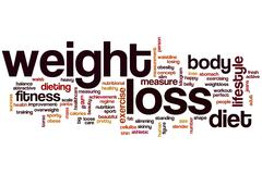 Weight loss word cloud Stock Illustration