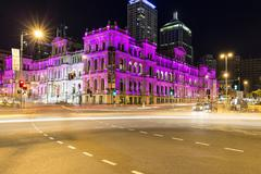 Brisbane Treasury Casino and night life Stock Photos
