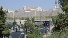 Panorama of old city Stock Footage