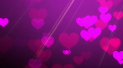 Purple Pink Hearts - stock footage