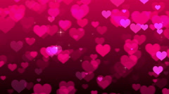 Pink Hearts Background Stock Footage