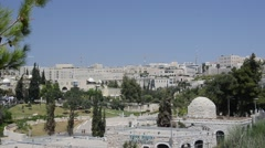 Jerusalem is a city of the universe and center of religions Stock Footage