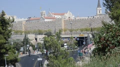 Streets of city Jerusalem Stock Footage