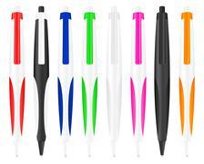 ballpoint pen 8 - stock illustration