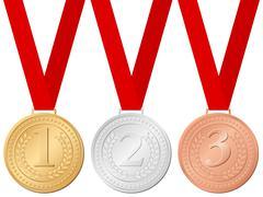 sport medals - stock illustration