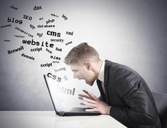 internet difficulty - stock illustration