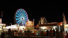 Carnival Midway Wide Shot Stock Footage