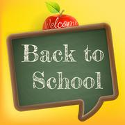 Welcome back to school. EPS 10 - stock illustration