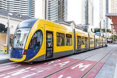 Gold Coast G:Link Tram Stock Photos