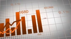 Animation of growing charts - design in brown Stock Footage