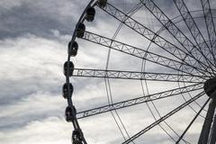 Ferris Wheel Silhouette close up - stock photo