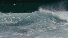 1080p, bodyboarding at the keokea bay maui, hawaii Stock Footage