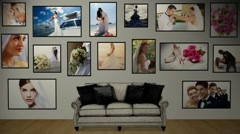 Stock After Effects of Photo Wall Gallery