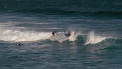 1080p, bodyboarding at the hookipa bay maui, hawaii - stock footage