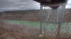 Under the Queenston bridge bordering Canada and the U.S., a timelapse Stock Footage