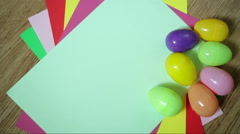 Nice colorful background with Easter eggs Stock Footage